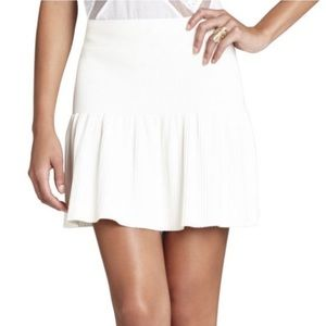 BCBGMaxAzria Valeria Ruffled White Skirt